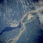 NASA satellite image of the Rio Negro which looks very dark and muddy